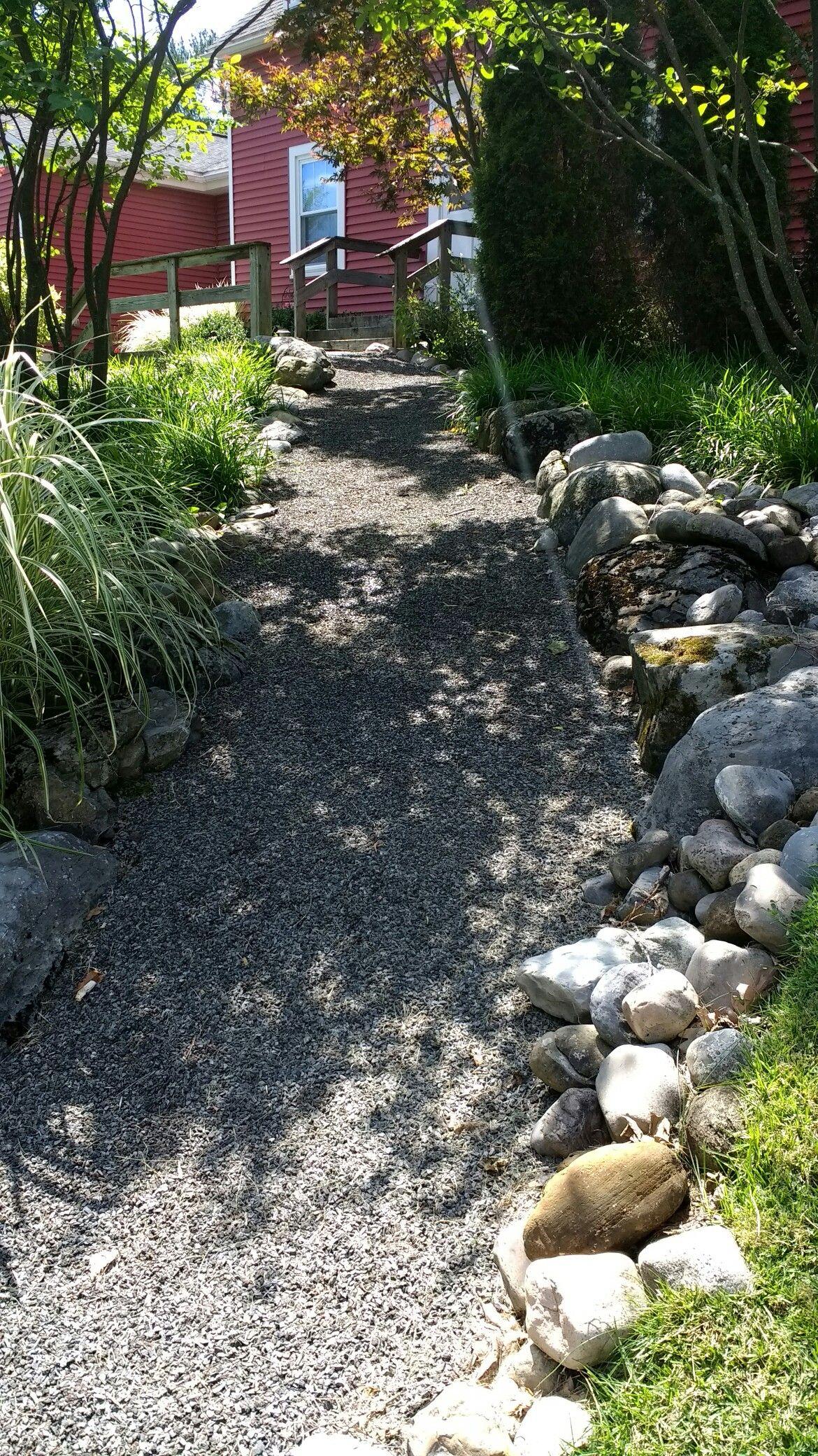 Syracuse. A path through the lush greens of a no