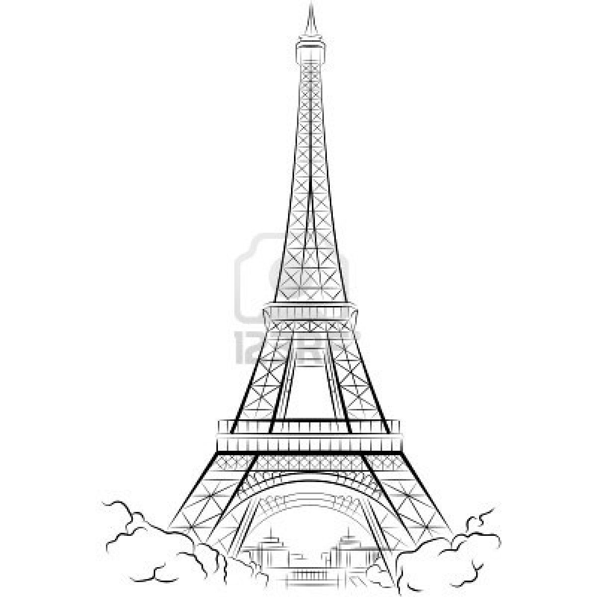 Drawing eiffel tower in paris france vector illustration for Online drawing maker