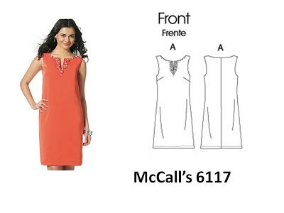 McCalls M6117 | Easy to sew | Shift Dress Sewing Pattern | Sewing ...
