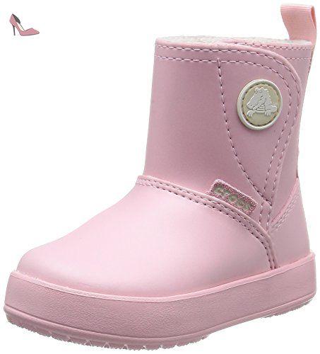 Crocs - Botte imperméable Swiftwater Kids Unisex-Enfant, EUR: 22-23, Party Pink/Candy Pink
