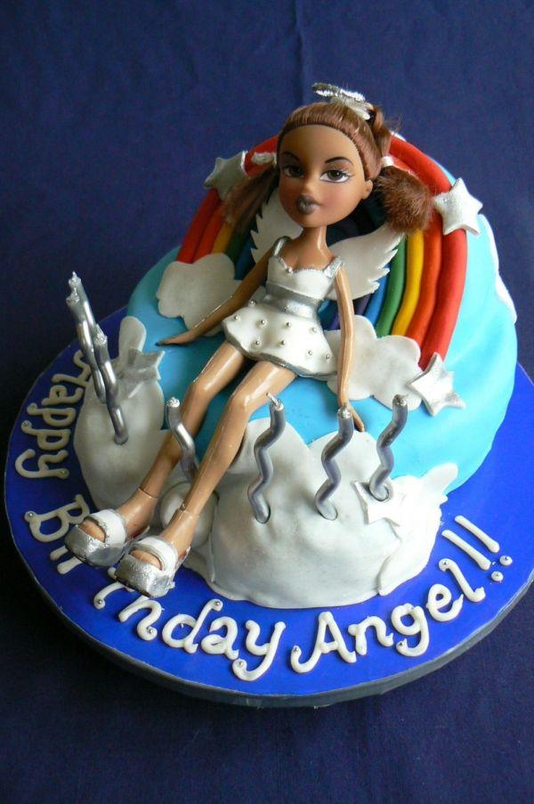 Remarkable Angels Bratz Cake Childrens Birthday Cakes Cake Kids Cake Personalised Birthday Cards Akebfashionlily Jamesorg