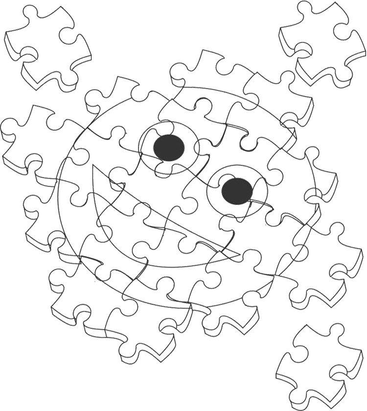 Jigsaw Puzzle Interesting Coloring Page Color puzzle