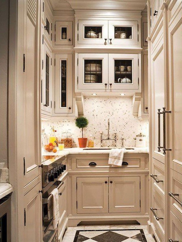 80+ Amazing Color for small kitchen remodel #kitchens ...