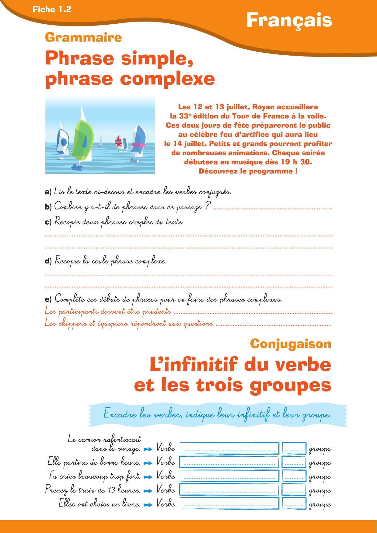 Librairie Interactive Revisons Francais Cm1 Cm2 Cm1 Cm2 Phrases Complexes Francais Cm1