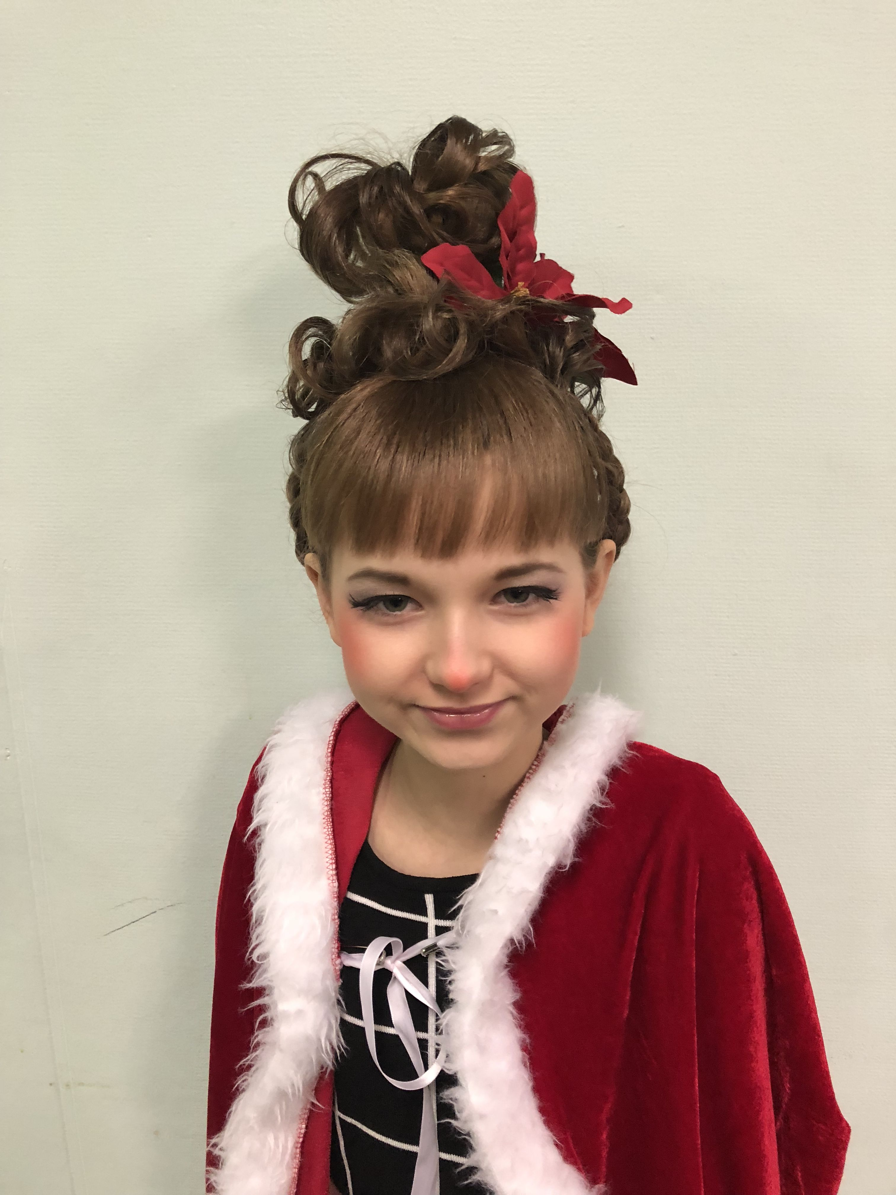 Cindy Lou Who Hairstyle: Cindy Lou Whoville Grinch Costume Play Halloween