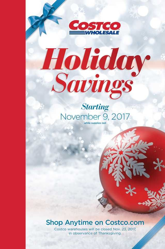 Holiday Savings Book Costco Holiday Savings 2017 Front Cover