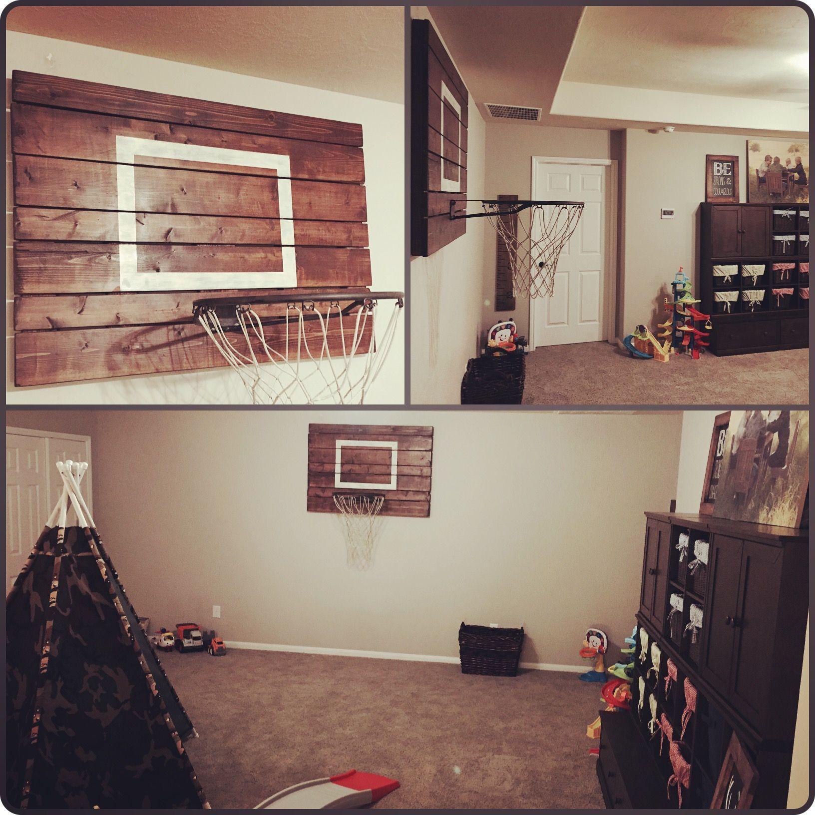 Custom made indoor rustic basketball hoop by jarabel 39 s - Indoor basketball hoop for bedroom ...