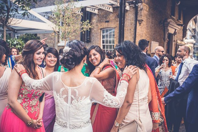Drinks Reception in the Courtyard, August 2015. Photo credit: White Ribbons Photography http://www.whiteribbonsphotography.co.uk/ #londonweddingvenue
