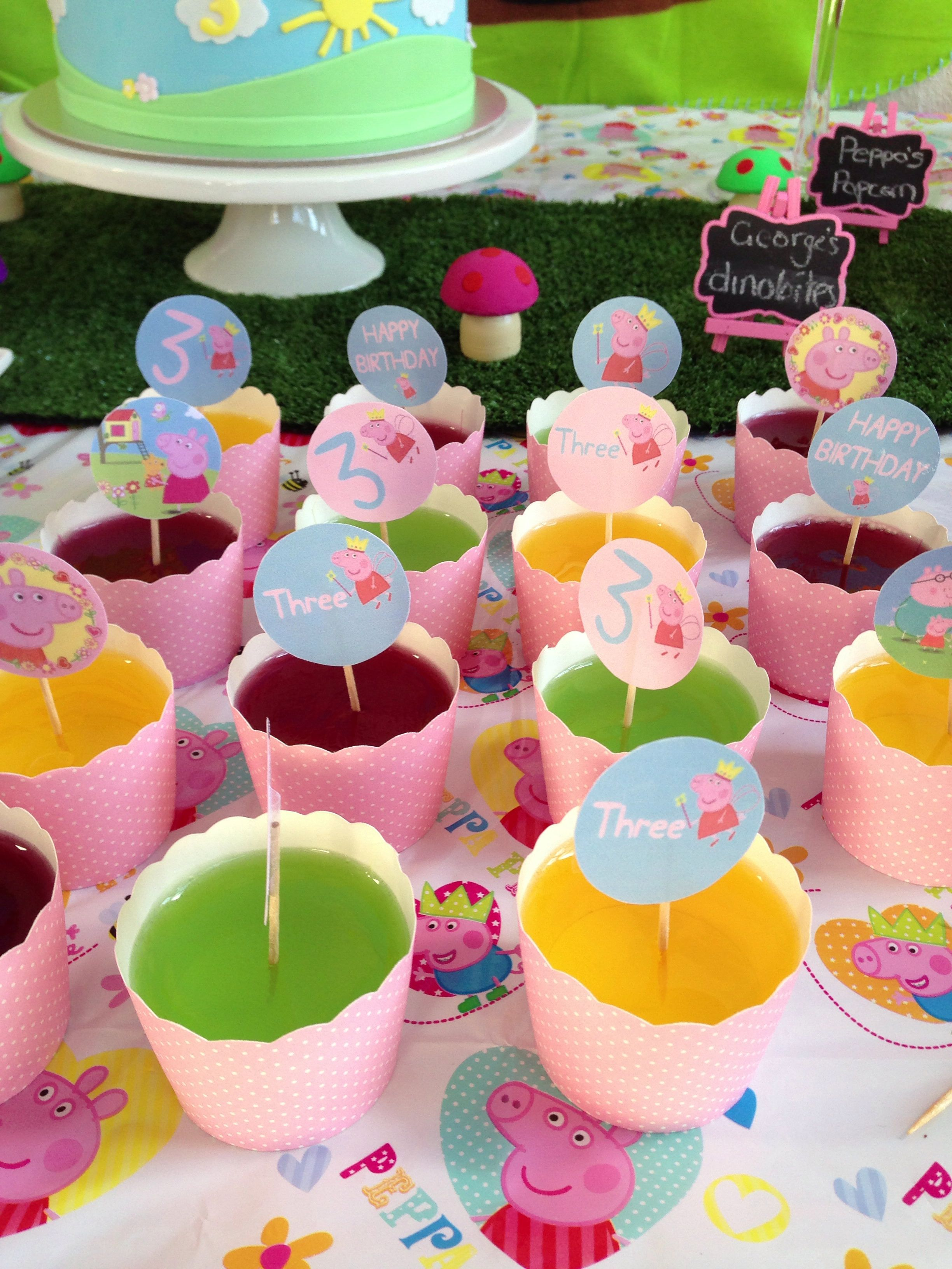 Jelly Cups Kids Party Food Peppa Pig Party Pig Party