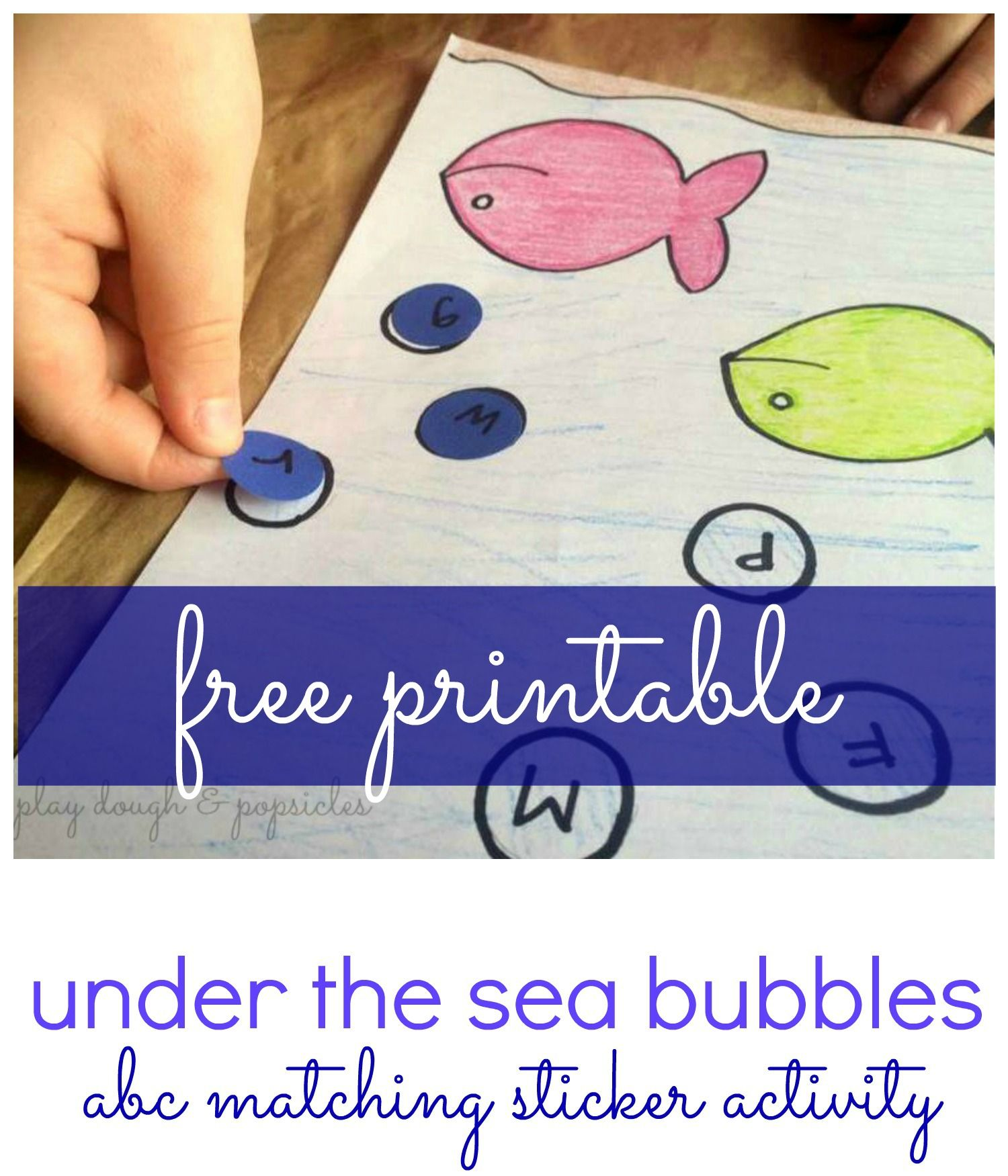 Free Printable Under The Sea Bubbles Abc Matching