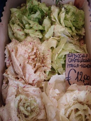 Treviso produce is featured at the open air market in Castlefranco