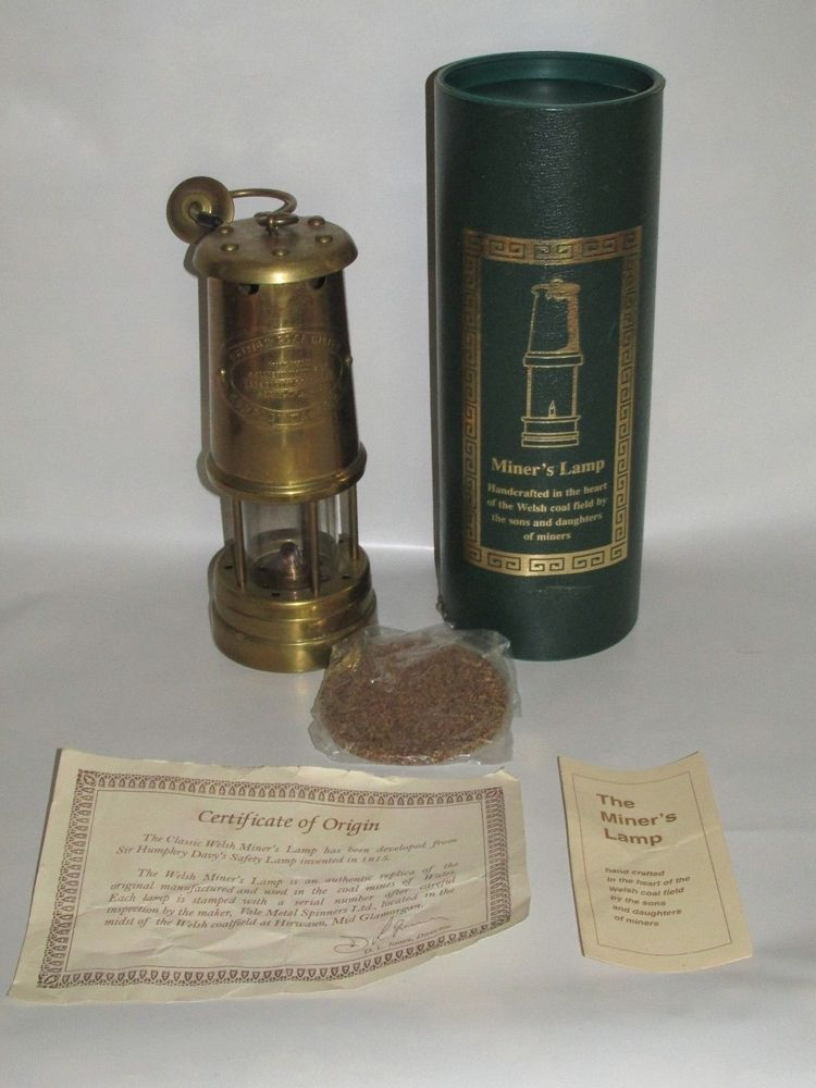 Rare Vintage Paraffin Lamp Miner S Lamp British Coal Mining Company Wales Uk Bergbau