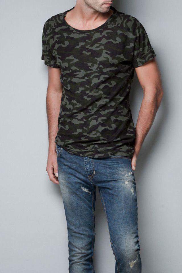 #ZARA Camouflage T-shirt