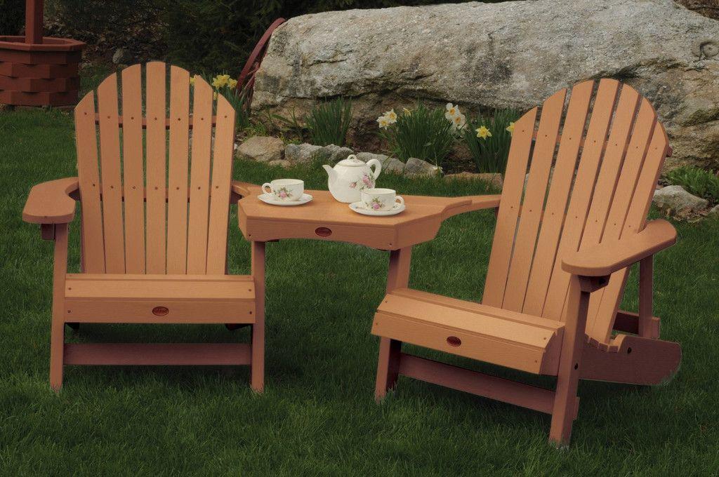 Highwood USA Tete-a-Tete Adirondack Chair Set - Toffee & Highwood USA Tete-a-Tete Adirondack Chair Set - Toffee | Highwood ...