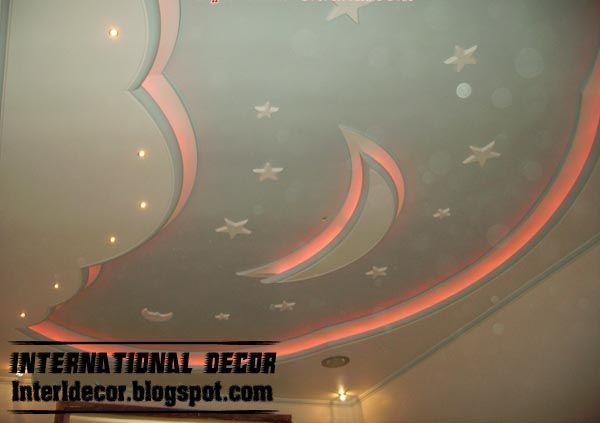 Cool And Modern False Ceiling Design For Kids Room