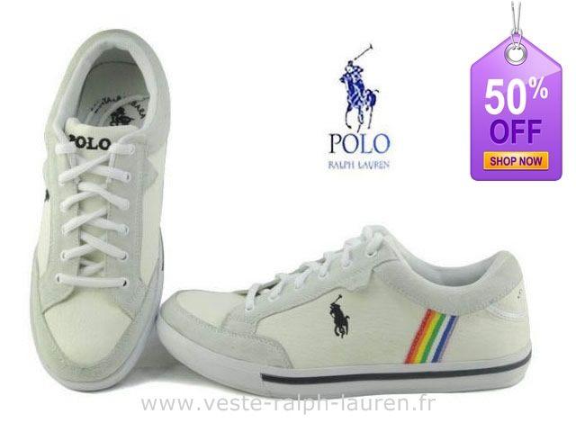 Officiel polo by Ralph Lauren hommes toile cantor low shoe sport pas cher  0041 blanc Chaussures Ralph Lauren Femme Pas Cher 78cb2d9ecd56