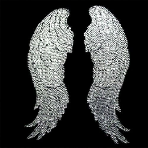 Sparkling Rhinestone Silver Angel Wings Womens Top T Shirt Sz S M L XL 2XL 13993 #DeltaAnvilGildanetc #GraphicTee