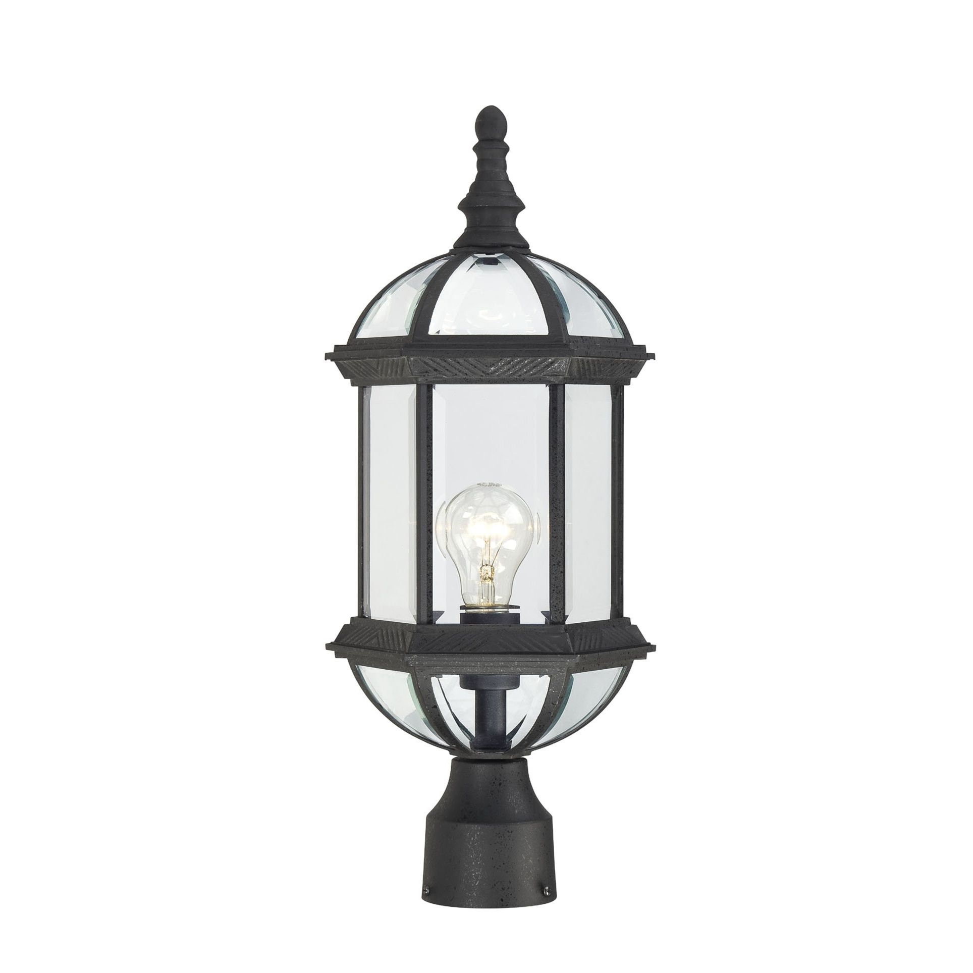 Nuvo Boxwood 1 Light Textured Black 19 Inch Post Fixture