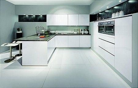 Nobilia - Focus 469 - Lacquer Premium White Click for larger - nobilia k chen preise