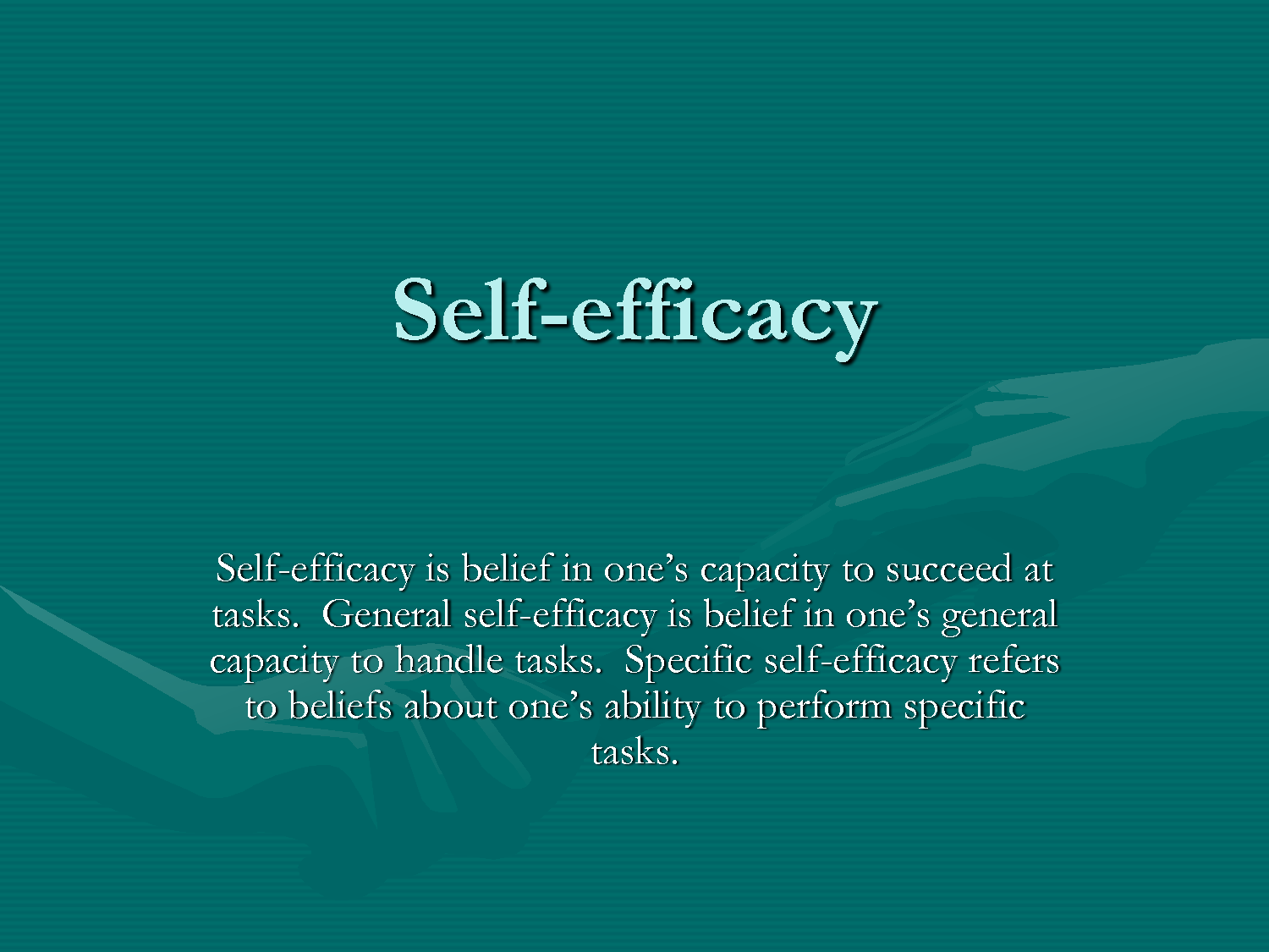 Amazing Self Efficacy