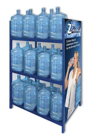 Heavy Duty 5 Gallon Water Bottle Storage Shelving Unit With 36