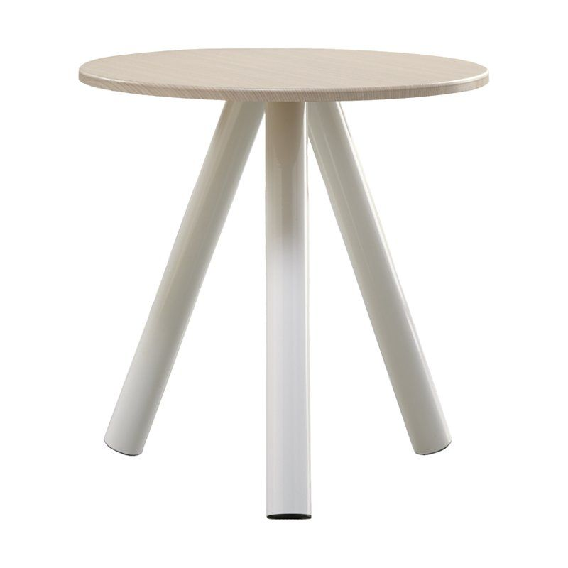 The Sauder Soft Modern End Table Is A Highly Sophisticated Three Legged  Round Table Which Can