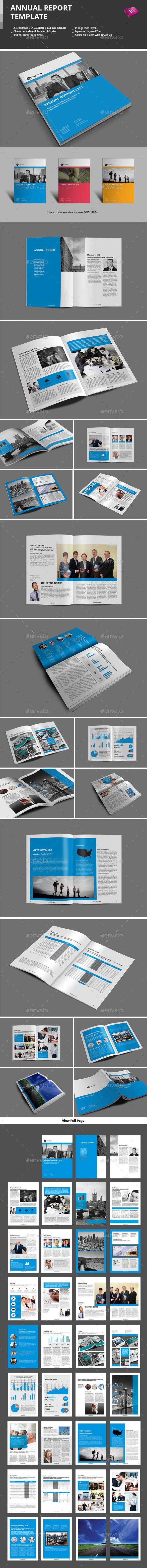 Annual Report Template | Informes anuales, Folletos y Plantas