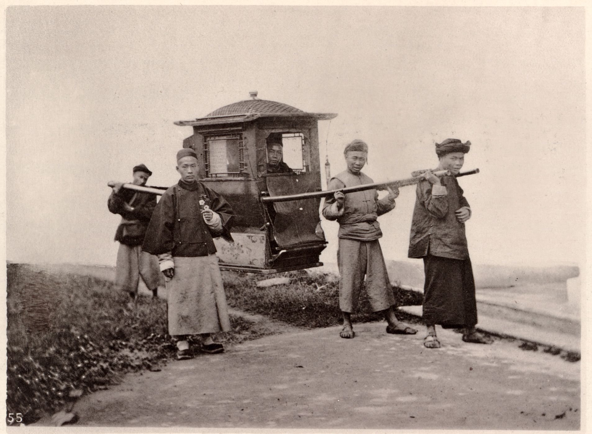 Chinese Wedding Sedan Chair Covers South Wales China Ca 1870 From John Thomson Images Of