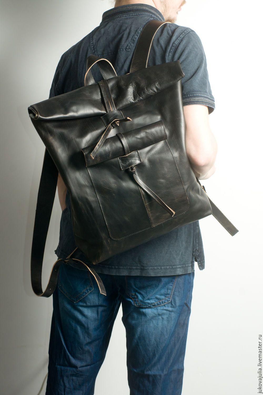 Кожаные сумки и рюкзаки для мужчин рюкзак polar adventure black п1056-05