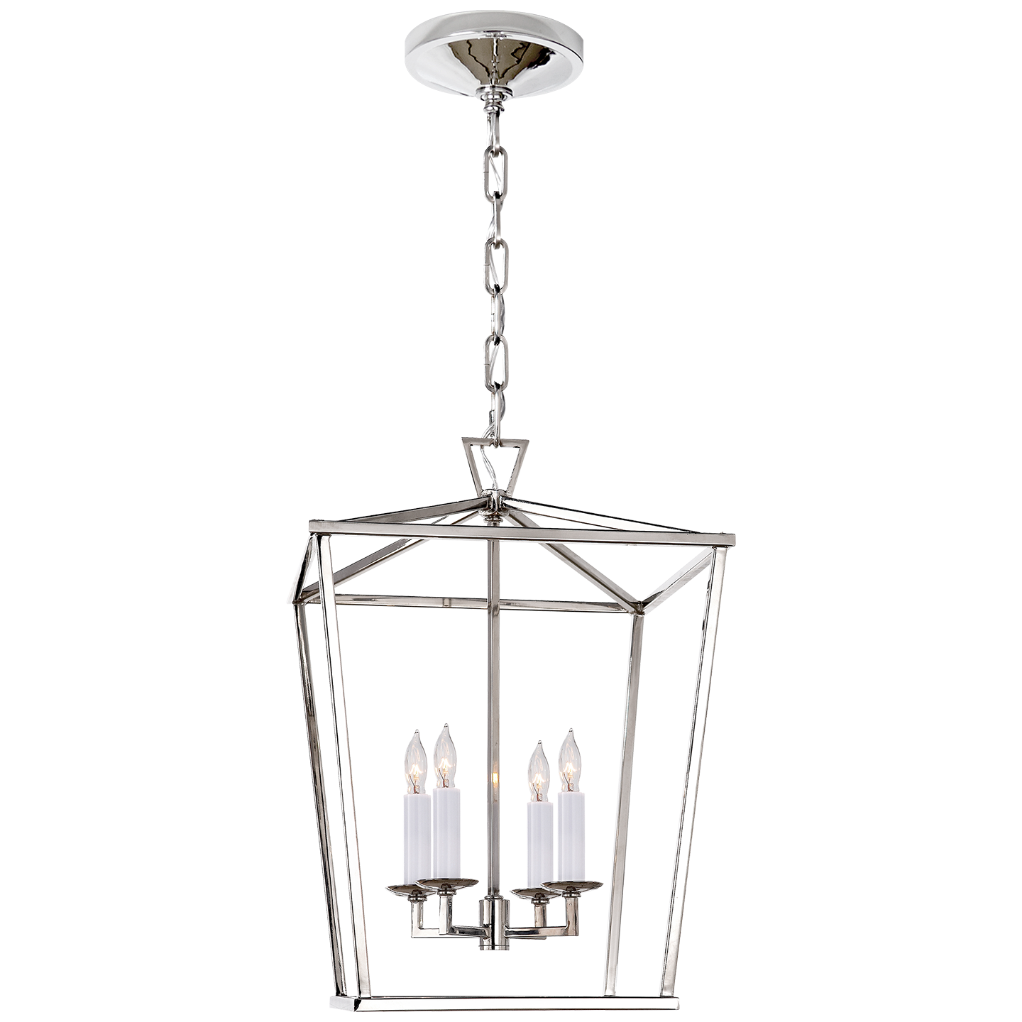 Kitchen Island With Darlana Chandelier: Darlana Small Lantern By EF Chapman In Polished Nickel