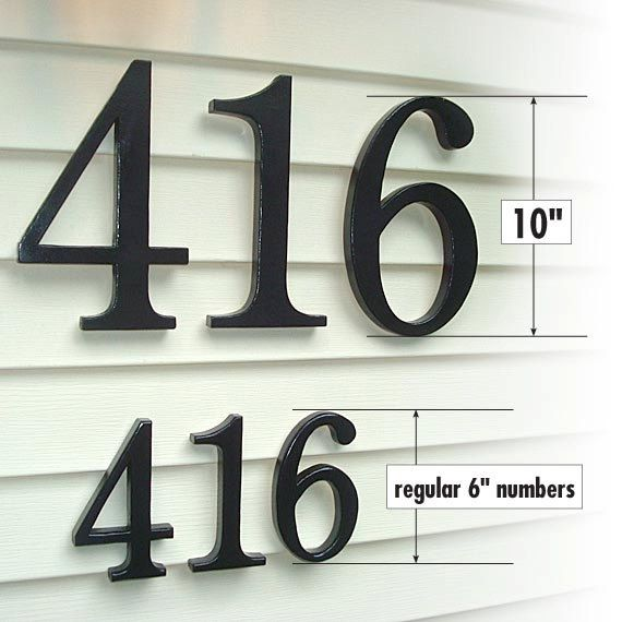 GARDENmarx Inch Address Numbers By GARDENmarx On Etsy Etsy - 10 inch metal house numbers