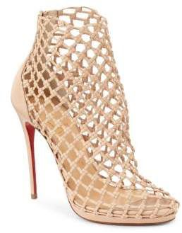 98c26785cf56 Christian Louboutin Porligat 120 Woven Leather Booties . All women love  Louboutin shoes! These shoes