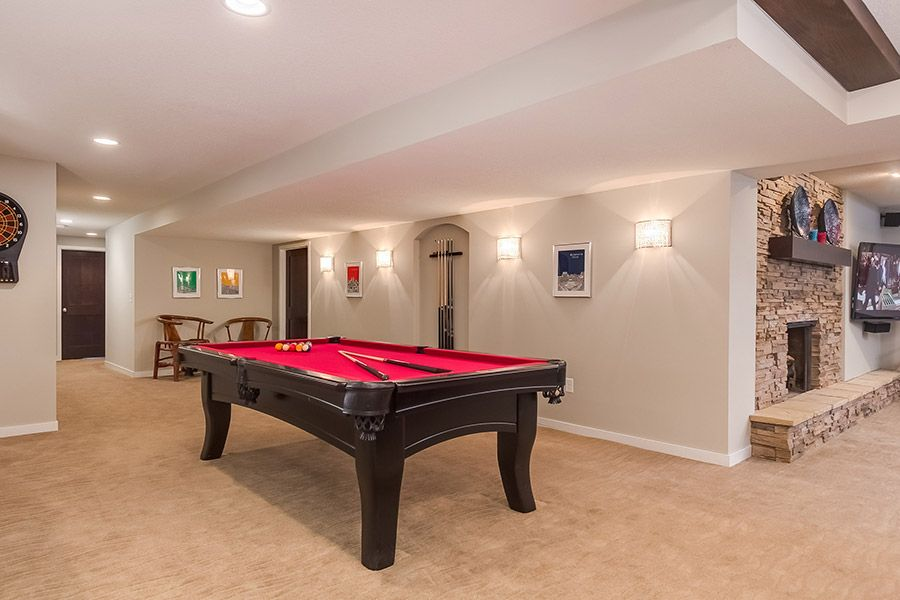 basement pool table Basement pool