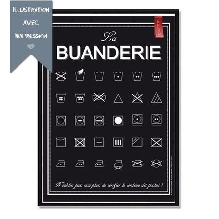 Affiche Papier La Buanderie Format A3 Affiche Format A3 Et