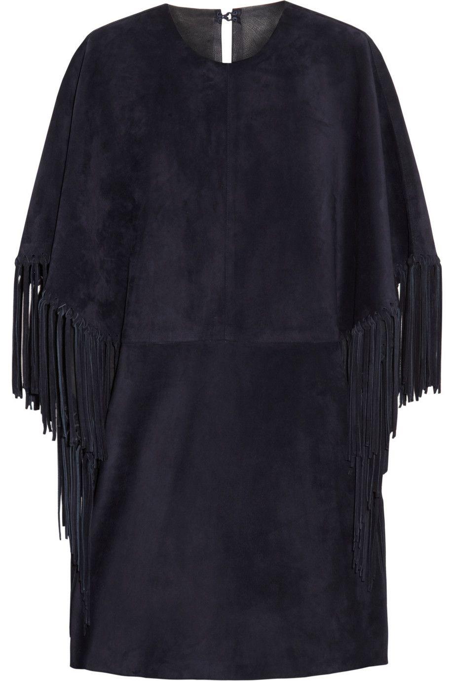 Valentino|Fringed suede mini dress|NET-A-PORTER.COM