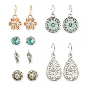 Drop Earrings with Studs