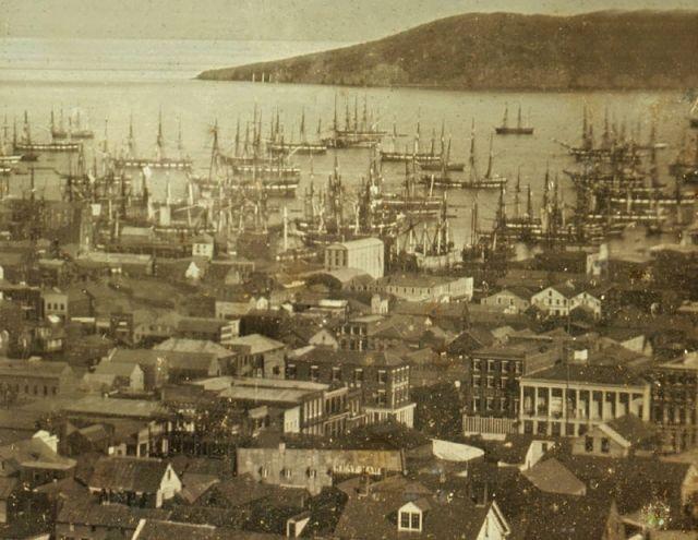 San Francisco waterfront 1850