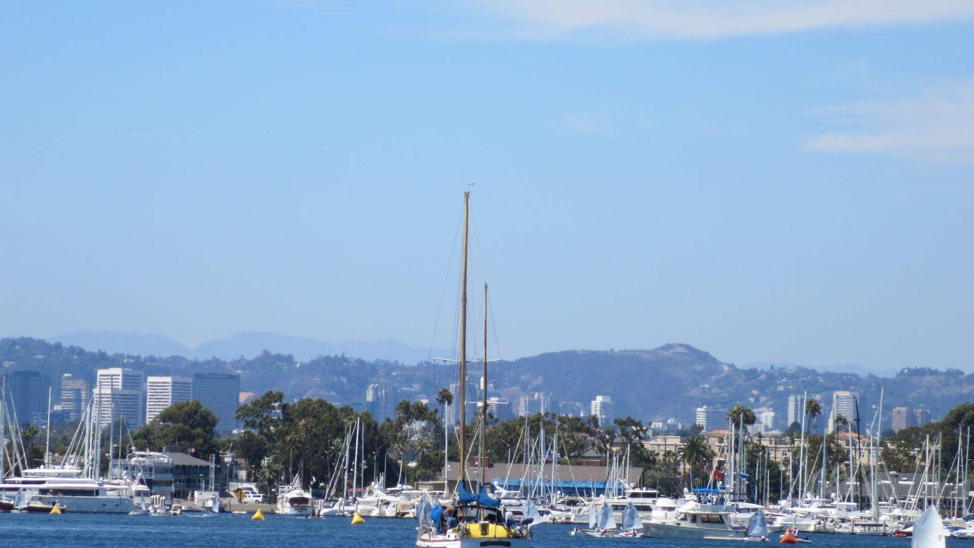 The City And The Sea Westside Of L A Viewed From Marina Del Rey San Francisco Skyline Marina Del Rey City