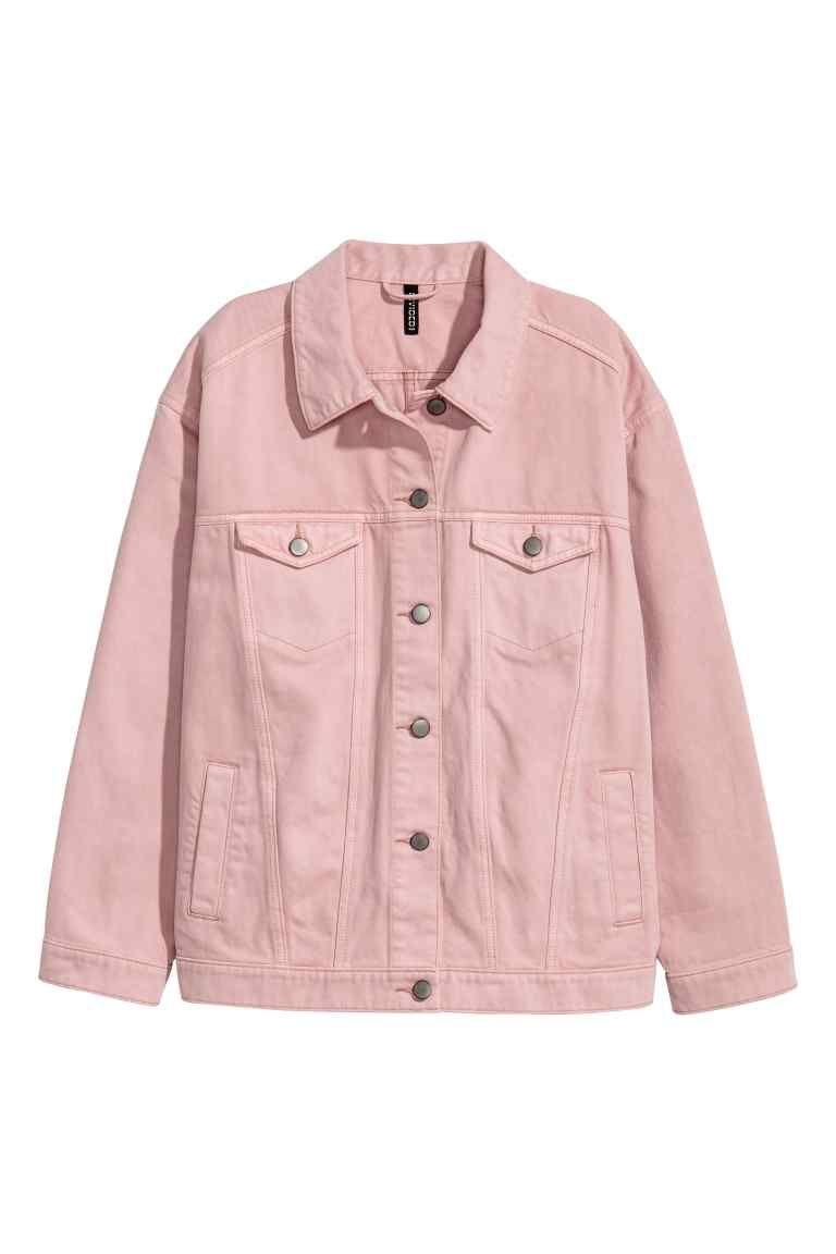 b1502570cb69 Veste en jean oversize - Denim rose clair - FEMME