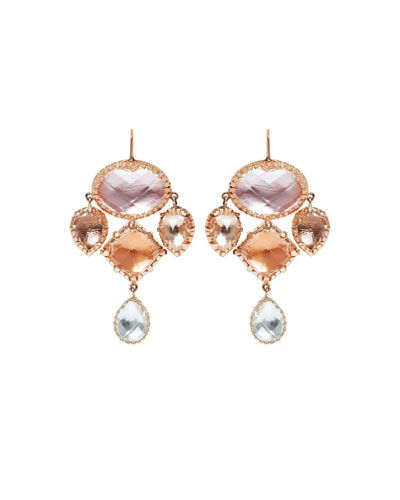 Larkspur & Hawk Olivia Convertible Small Drop Earrings in Dove Foil VPYjKdhj