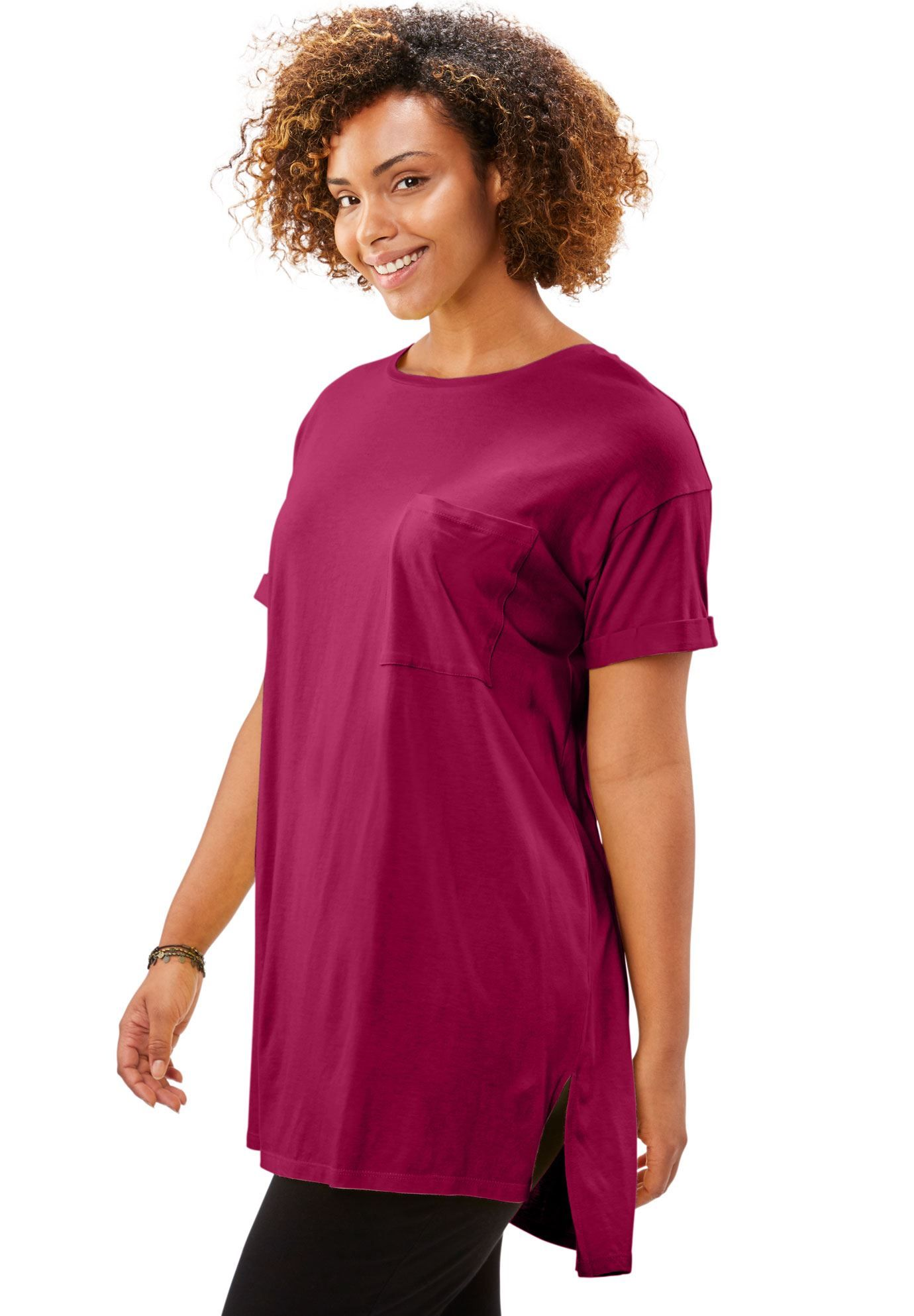 b2a096434 Longer Length Crewneck Tee - Women's Plus Size Clothing | Products ...