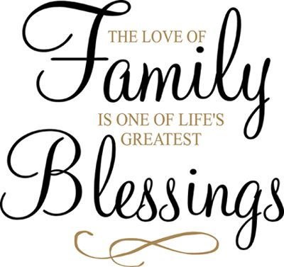 Blessed Family Quotes Unique Family Blessings Wall Decal Family Quotes Pinterest Family
