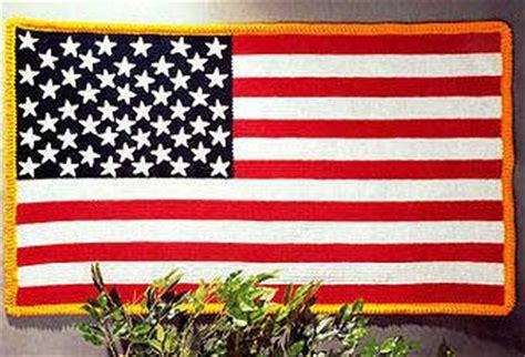 How to Crochet an American Flag Blanket #americanflag