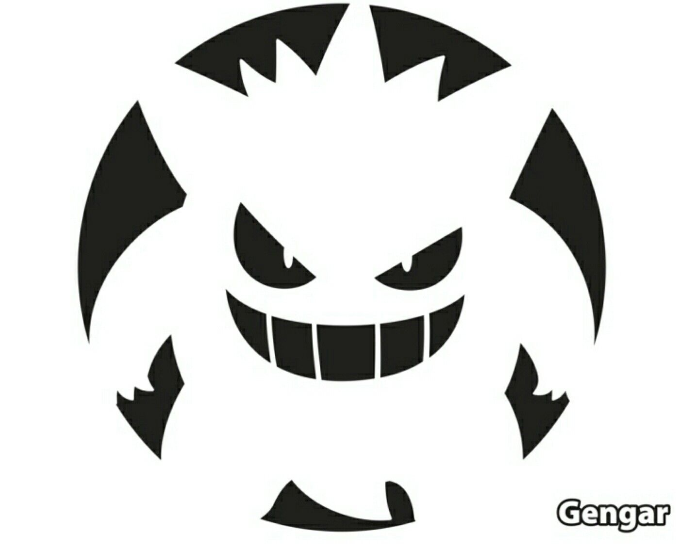 pumpkin template gengar  Gengar Jack-o-lantern Pattern in 7   Pokemon pumpkin ...