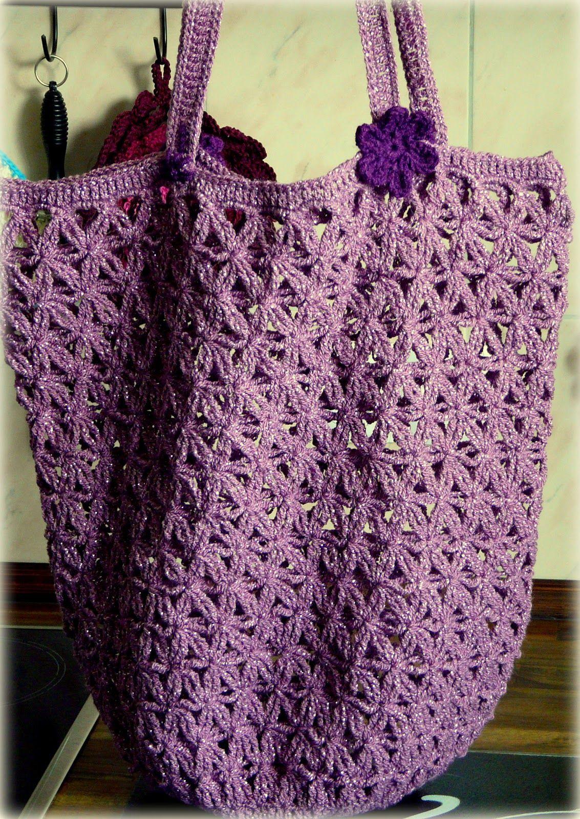 Die Häkel Eule - Gehäkelte Tasche / Einkaufsnetz Lacy Crochet Market ...