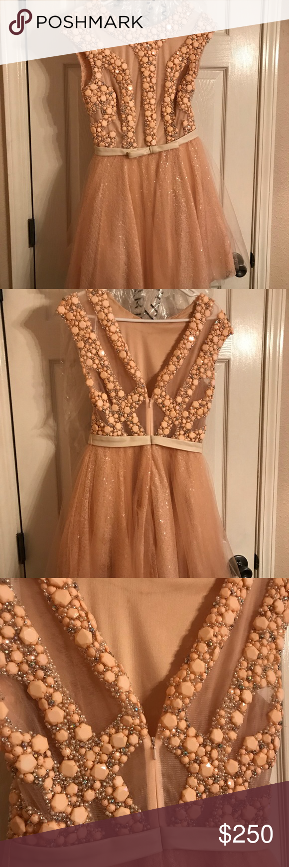 Sherri hill prom dress sherri hill prom dresses peach prom