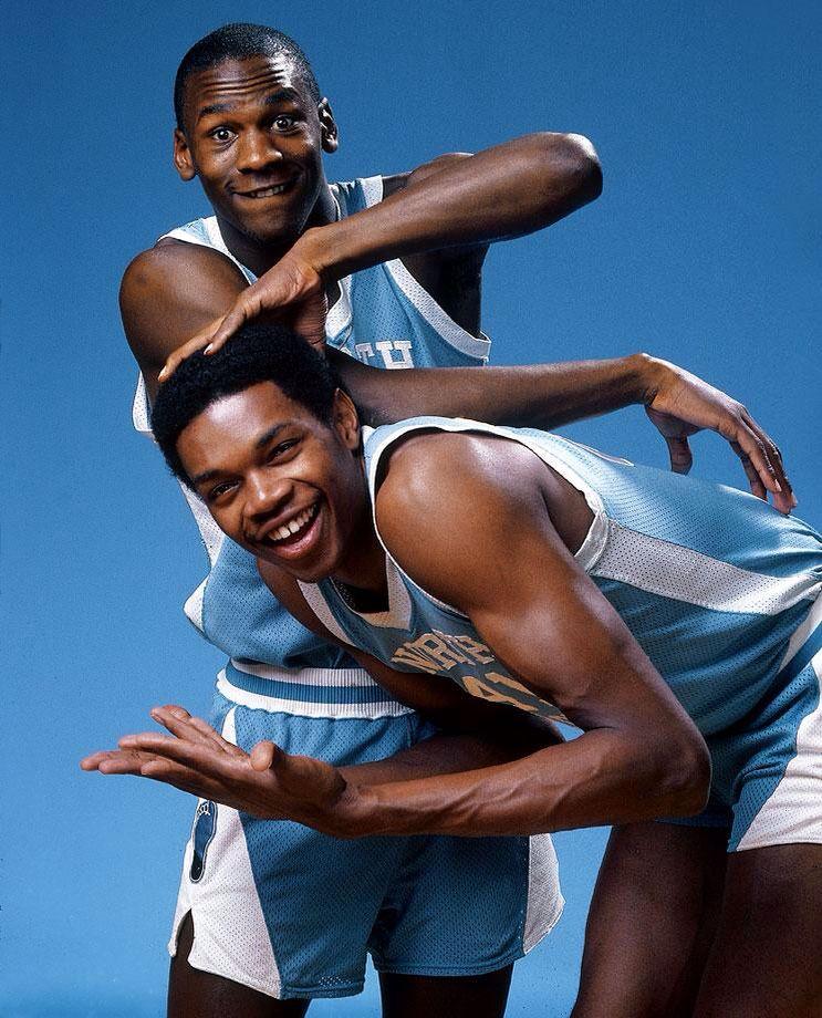Michael Jordan   Sam Perkins Sports Illustrated Cover  basketball  dunk   flight  champions  nba  dansbasketball 1d6058e1b