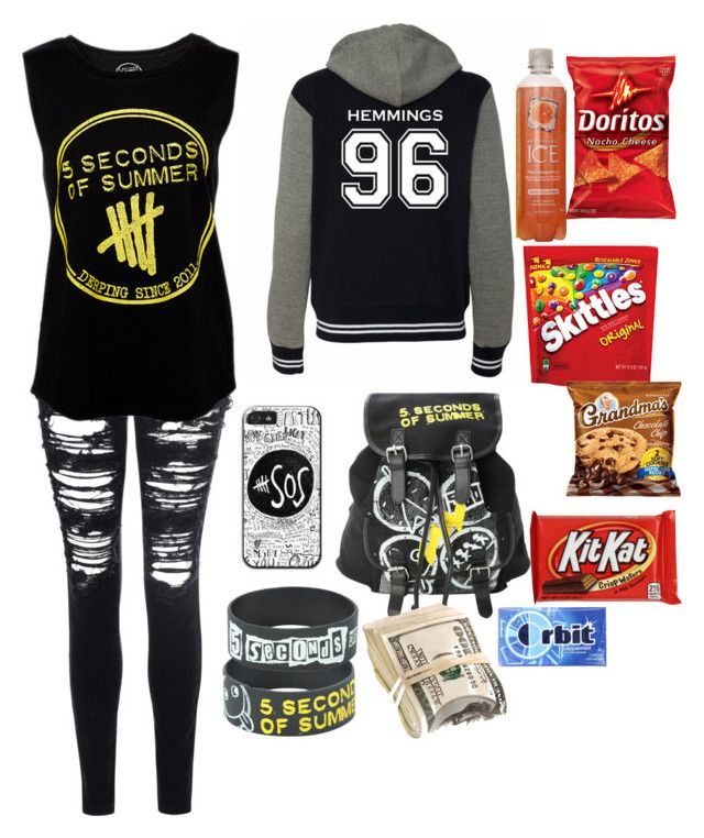 """GOING TO 5SOS CONCERT W/ MY MAIN(ALEX)"" by poohbabygurl14 ❤ liked on Polyvore"
