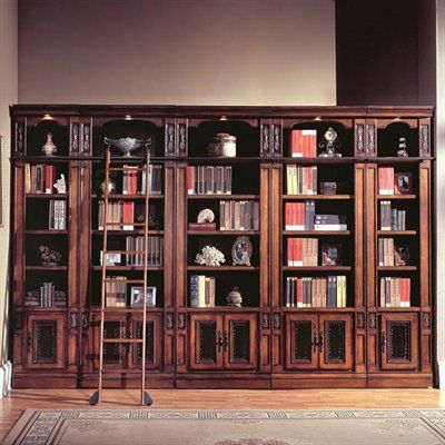 Da Vinci Library Inset Bookcase SetIncludes 2 22 Open Top Bookcases22W X 165D 945H3 Adjustable Shelves 1 Panel Door Can Light3 32