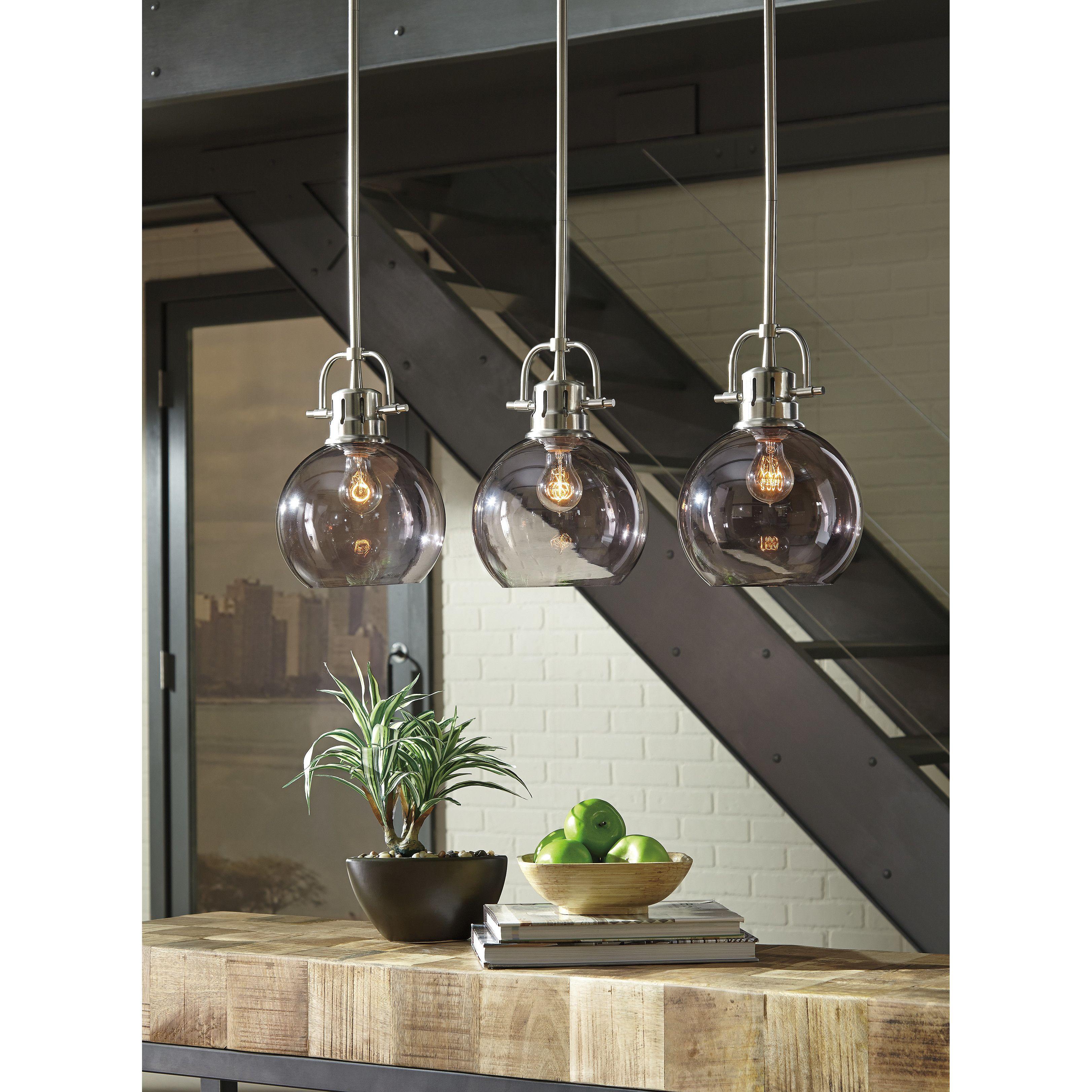 Josephus 3 Light Kitchen Island Linear Pendant Kitchen Lighting Pendant Light Wide Pendant Light